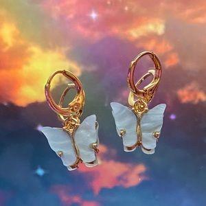 Jewelry - Light blue butterfly earrings